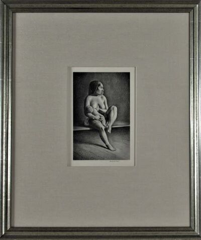 Rockwell Kent, 'Greenland Mother Nursing Child', 1934