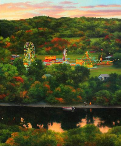 Scott Prior, 'Fairground on the River', 2018