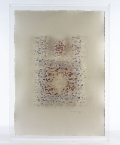 Aurèlia Muñoz, 'Mandala amb fils blaus', 1985