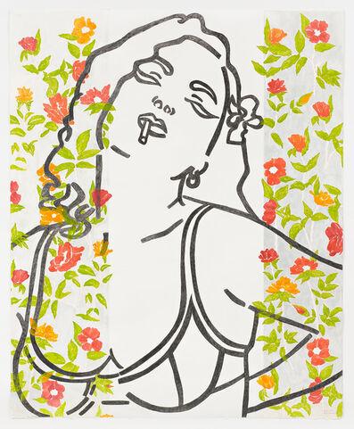 Ghada Amer & Reza Farkhondeh, 'El Amor de la Rosa Roja', 2012