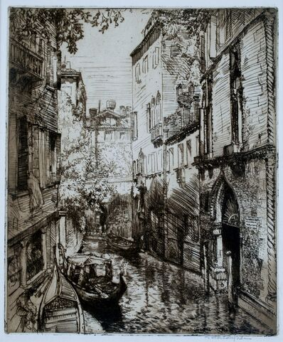 Donald Shaw MacLaughlan, 'Rio Verona, Venice', 1912