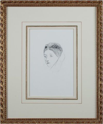 Hannah de de Rothschild, 'Portrait (Head) of a Woman', 1870
