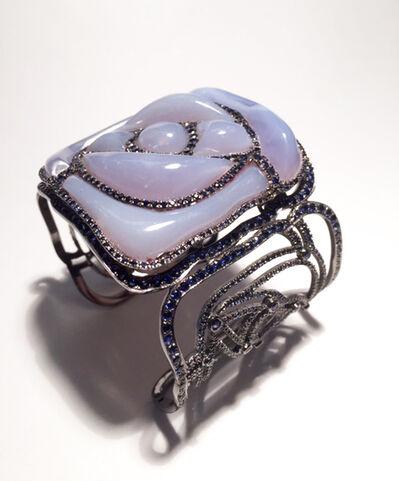 William Ehrlich, 'Square Rose Bracelet, Pale Blue'