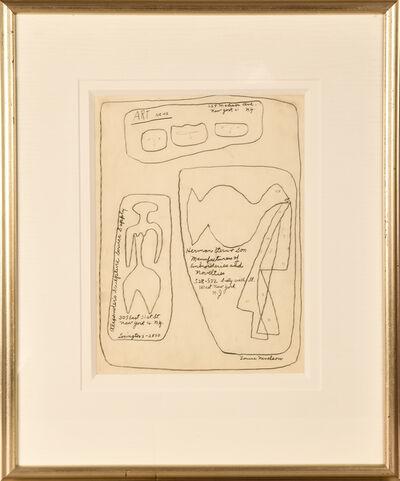 Louise Nevelson, 'Artnews Illustration', 1954