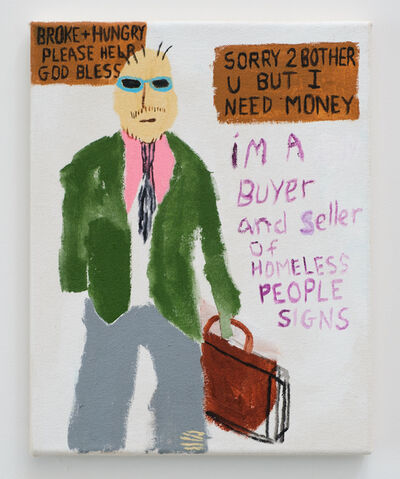 Huey Crowley, 'Look, I gotta Make a profit here.. I'll give you 3.25 for your sign', 2018