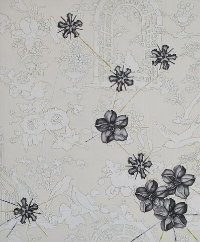 Kiki Gaffney, 'White Toile with Botanicals', 2011