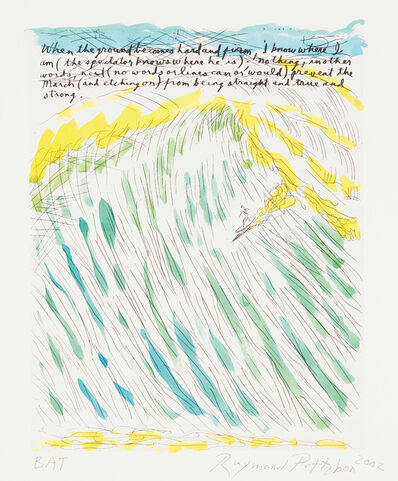 Raymond Pettibon, 'Untitled (When the Ground Becomes Hard and Firm)', 2002