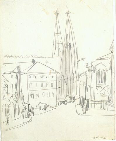 Ernst Ludwig Kirchner, 'Sophienkirche Dresden', ca. 1911