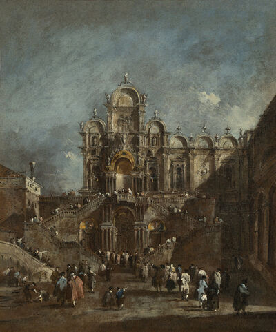 Francesco Guardi, 'Temporary Tribune in the Campo San Zanipolo, Venice', 1782 or after