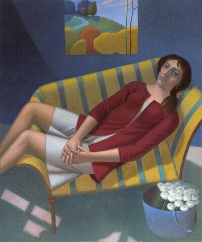 Vincenzo Calli, 'Interno con rosine', 2020