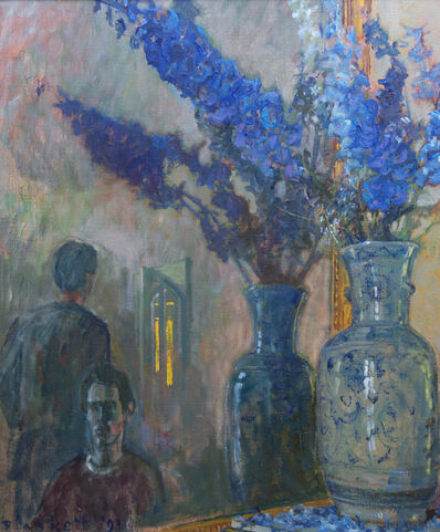 Joseph Plaskett, 'Delphiniums and Figures 2', 1993