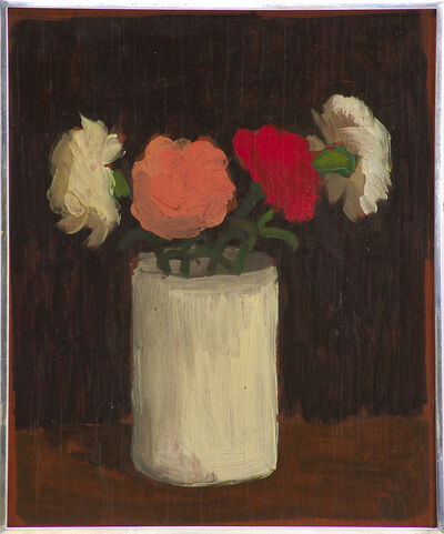 Robert Kulicke, 'Multicolored Flowers in a White Vase', 1959