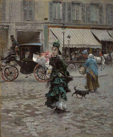 Giovanni Boldini, 'Crossing the Street', 1873-1875