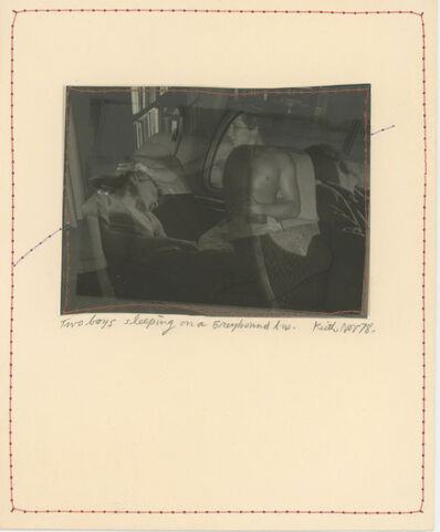 Keith A. Smith, 'Two Boys Sleeping on a Greyhound Bus, Nov 78', 1978