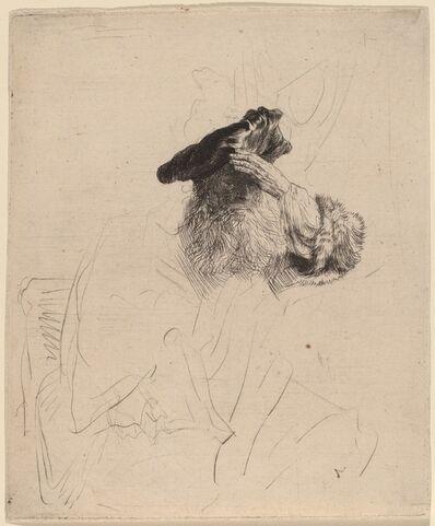 Rembrandt van Rijn, 'Old Man Shading His Eyes with His Hand', ca. 1639