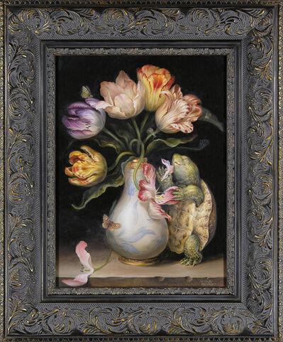 Omar Rayyan, 'Tulips with Turtle', 2017