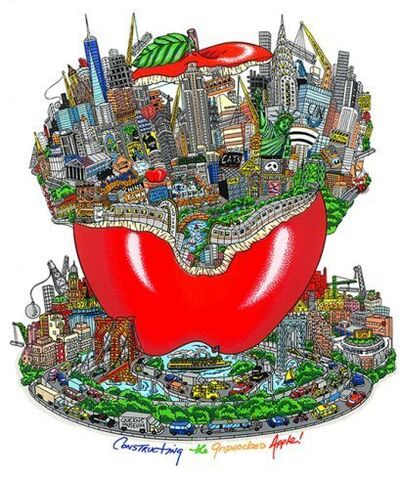 Charles Fazzino, 'Constructing the gridlocked apple ', 2017