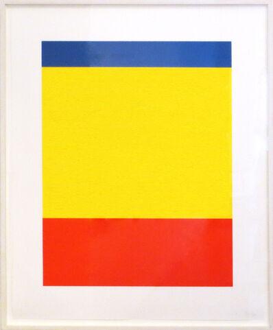 Ellsworth Kelly, 'Blue, Yellow, Red', 1999