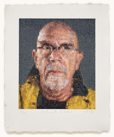 Chuck Close, 'Self Portrait/Felt Hand Stamp', 2012