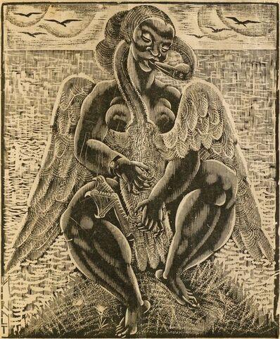 Eduard Wiiralt, 'Leda and the Swan', 1926