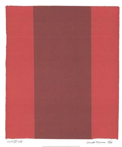 Barnett Newman, 'Canto XIV', 1998
