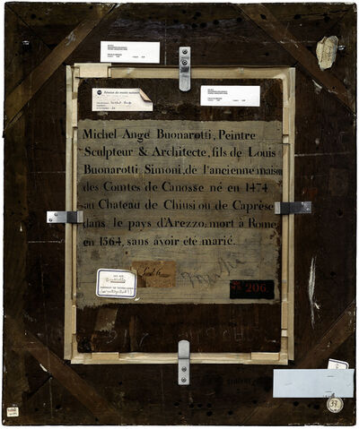 Philippe Gronon, 'Verso n°35, Portrait de Michel Ange, par Bugiardini Giuliano, collection du musée du Louvre', 2009