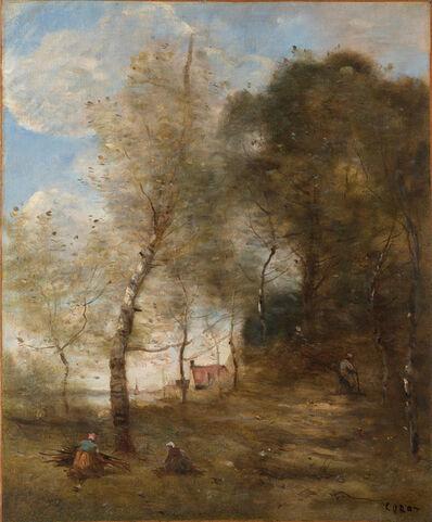 Jean-Baptiste-Camille Corot, 'Le Chemin montant sous les arbres à Ville-d'Avray', c.1874