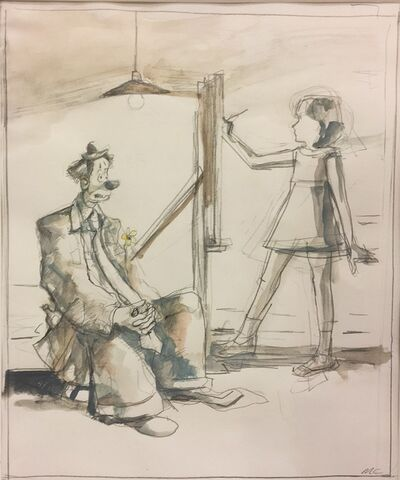Mike Cockrill, 'Clown Posing Under Lamp', 1999