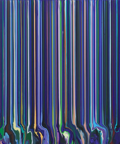 Ian Davenport, 'Cobalt Blue (After Monet)', 2017