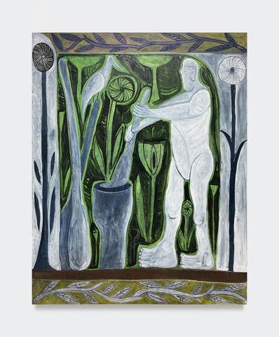 Mischa Pavlovski Andresen, 'Smørkærner med fugl og årer (Butter churner with bird and oars)', 2020