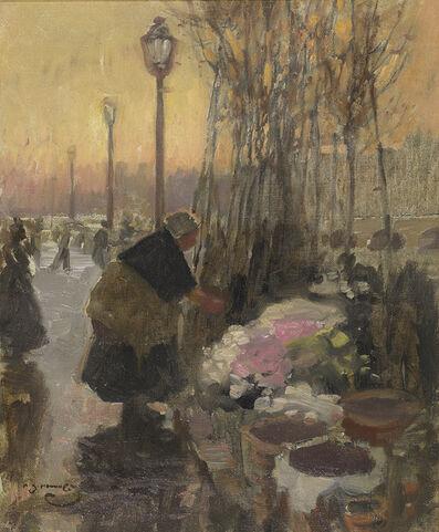 Alfred James Munnings, 'The Flower Seller, Paris', ca. 1902