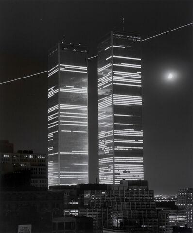 Monika Baumgartl, 'World Trade Center, mit Mond und Flugschneise #7, 1978', print date: 2019