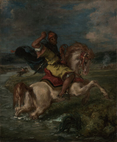 Eugène Delacroix, 'Moroccan Horseman Crossing a Ford', 1850