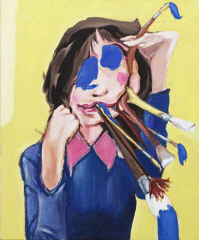 Micha Patiniott, 'Brushface (Bluch and Blue)', 2009