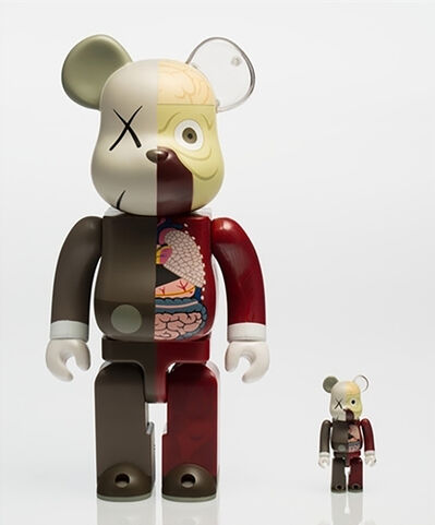 KAWS, 'KAWS X BE@RBRICK Dissected Companion 400% and 100% (Brown)', 2010