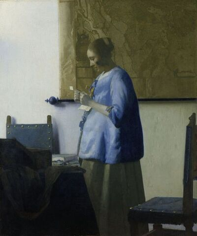 Johannes Vermeer, 'Woman Reading a Letter', ca. 1663