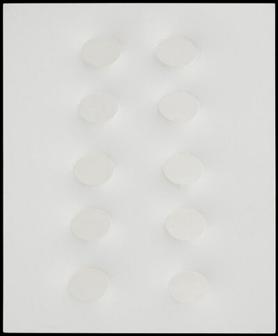 Turi Simeti, 'Dieci ovali bianchi', 2015