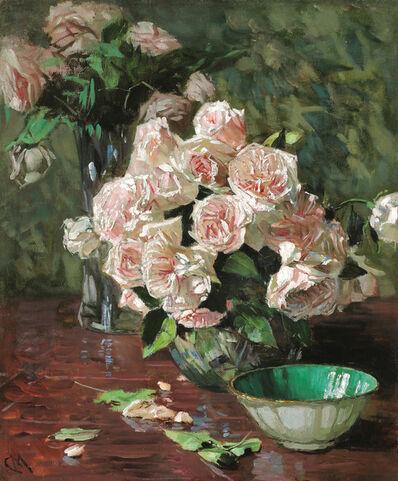 Carl Moll, 'White Roses II', 1920