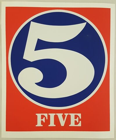 """Robert Indiana, 'Five (from the """"Numbers"""" suite)', 1968"""