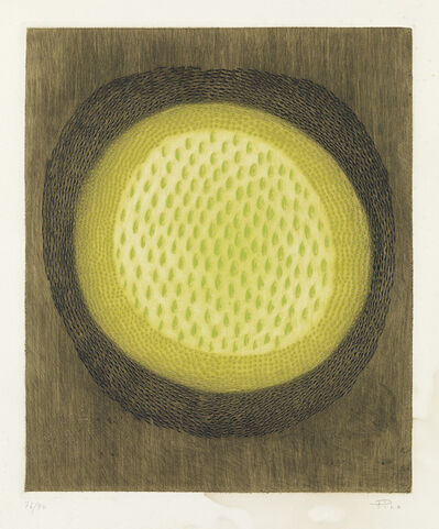 Arthur Luiz Piza, 'Three color etchings with aquatint and embossing.'