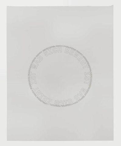 Alex Hanimann, ' Sans titre [WAS SICH BEWEGT]', 1980 -2000