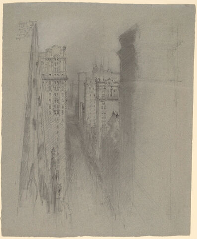 Stanford White, 'North on Broadway from Trinity Church', ca. 1900
