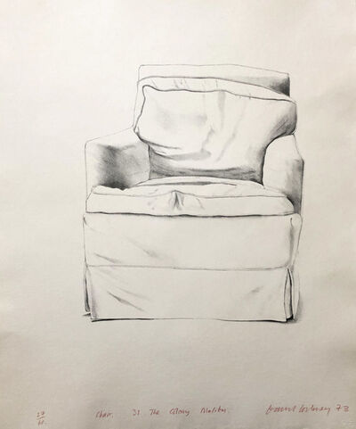 David Hockney, 'Chair, 38 The Colony, Malibu', 1973