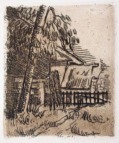 Paul Cézanne, 'Landscape at Auvers, Farm Entrance on the Rue St. Remy', 1873