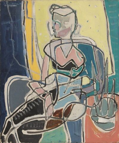 Patrick Heron, 'Girl with Jonquils', 1950