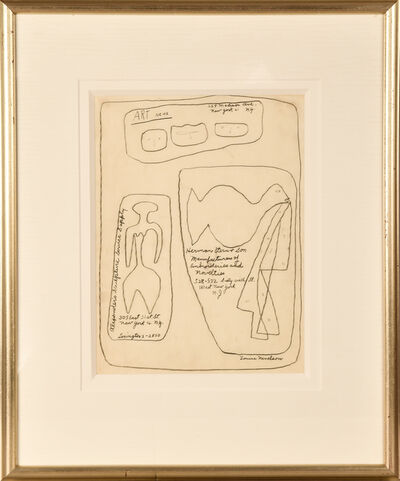 Louise Nevelson, 'Untitled (Day Stops)', ca. 1945