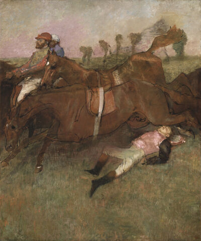 Edgar Degas, 'Scene from the Steeplechase: The Fallen Jockey', 1866, reworked 1880, 1881 and ca. 1897
