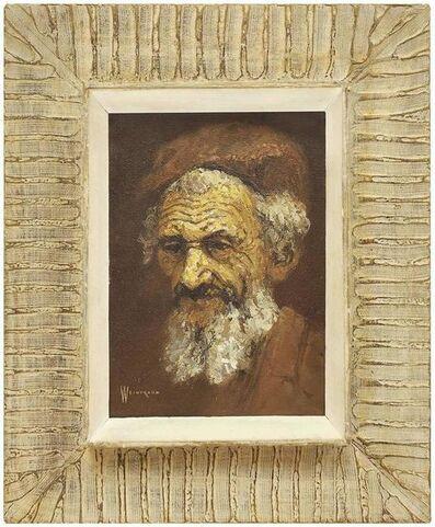 William Weintraub, 'Sephardic Rabbi, Middle Eastern Mid Century Orientalist Painting', Mid-20th Century