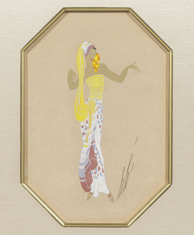 Erté (Romain de Tirtoff), 'Lady in Yellow'