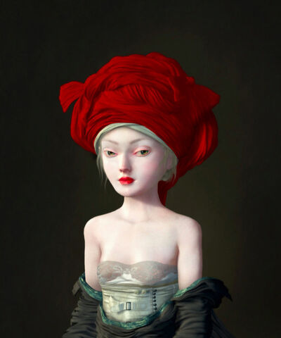 Ray Caesar, 'Girl in a Red Chaperone', 2016